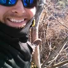climbing tree selfie