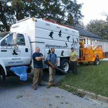 Professional Tree Care Crew in front of our Ford F-750 with Southco Forestry Body