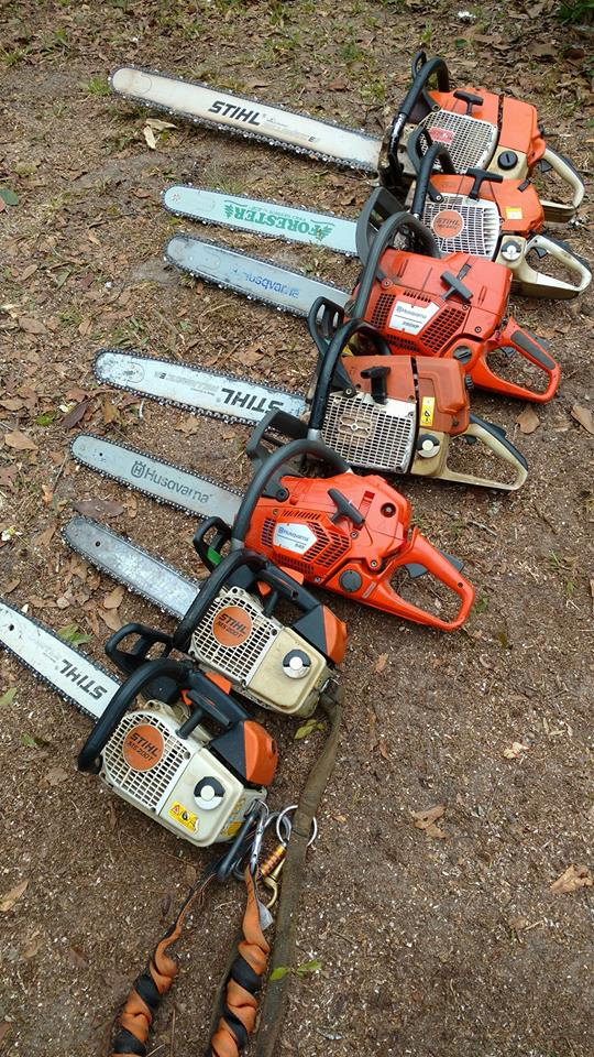 chainsaws for tree services -  stihl - husqvarna - forester